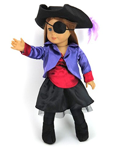 18 Inch Doll Clothes - Pirate Costume- American Girl *DOLL IS NOT INCLUDED* (Graco Mini Pack N Play compare prices)
