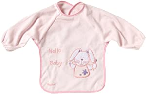 Playshoes 507146-14 - Babero de manga larga, diseño de conejito, 39 x 30 cm, color rosa marca Playshoes