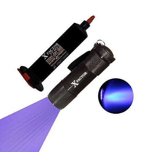 Xfactor® Sticky-Icky 1000Mpa*S Ultra Low Viscosity Uv Loca Glue Adhesive + Uv Light Black Light Flashlight For Lcd Glass Digitizer Repair - Money Back Guarantee !!