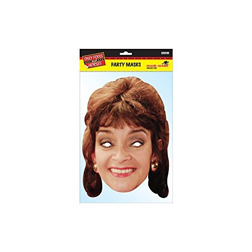 Marlene Only Fools and Horses Character Face Card Mask,Impersonation/Fancy Dress