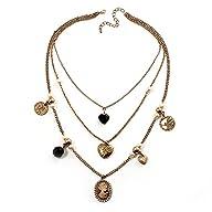 Gold Multistrand Cameo Necklace – 64cm Length