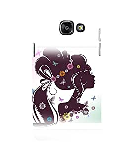 printtech Beautiful Girl Floral Abstract Back Case Cover for Samsung Galaxy A5 (2016)