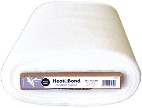 Lowest Prices! Heat N Bond Extra High Loft Fleece Fusible 20X11 Yards-White