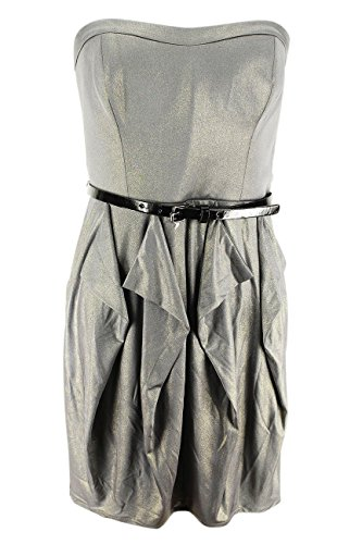 Jessica Simpson Womens Strapless Bubble Dress Size 8 Regular Grey Polyester