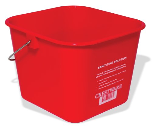 Crestware BUCSR 3-Quart Sanitation Bucket, Small, Red