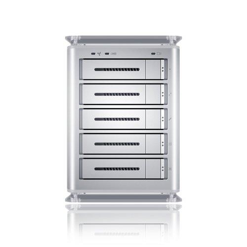 Sans Digital TowerRAID TS5CT 5-Bay SATA to USB2.0/eSATA/Firewire 800 RAID 5 NAS Enclosure (Silver)