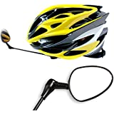 BEST BICYCLE HELMET MIRROR - Our 360° Adjustable & Lightweight Clear View Mirror Is a Safety Must Have for Adults and Kids - Enjoy Riding the Mountain Bike, Cycle or BMX in Style + Lifetime Warranty!