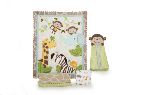 Carter'S 4 Piece Crib Bedding Set, Jungle Play