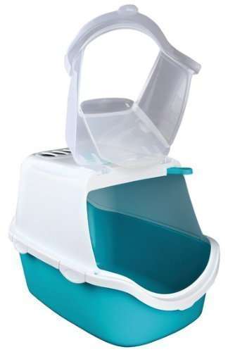 trixie-vico-easy-clean-cat-litter-tray-with-dome-40-x-40-x-56-cm-turquoise-white