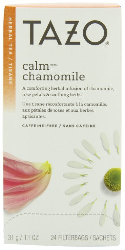 Tazo Calm-Chamomile Filter Bag Tea, 24 Count(Pack of 6)