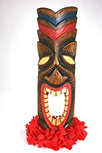 "Amazon.com - CARVED TIKI MASK 20"" - HAPPY TIKI - HAWAIIAN ..."