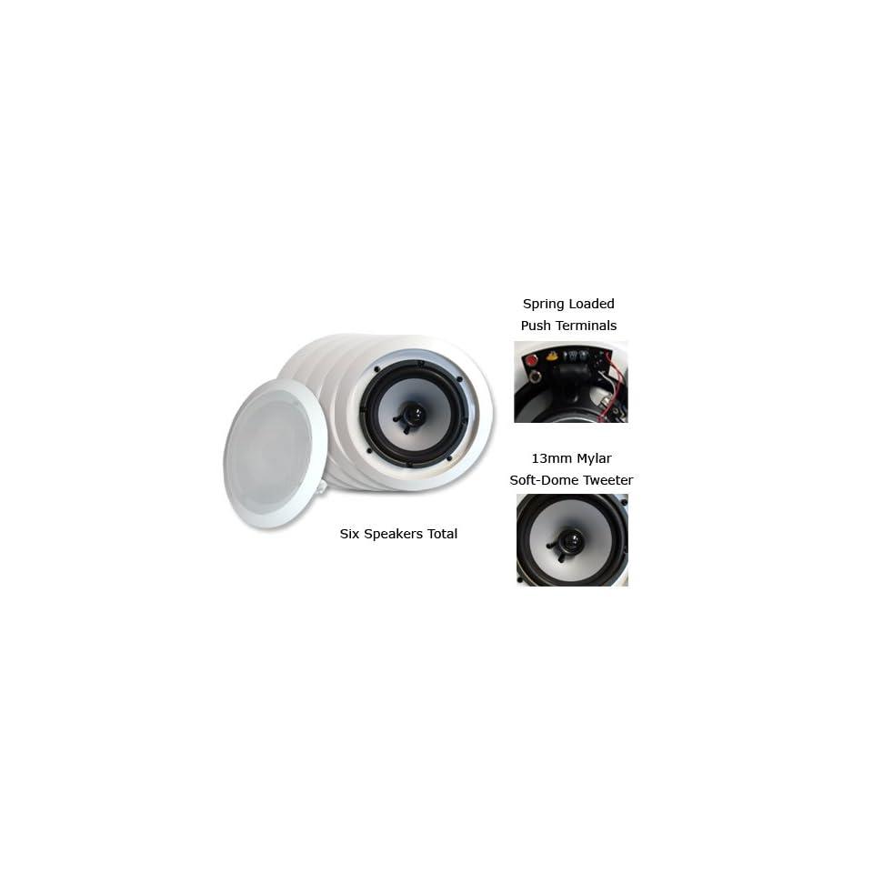 Acoustic Audio iC6 6PKG (6) 160 Watt 6.5In Wall/Ceiling Home Speakers