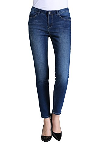 Butt Lift Skinny Jeans, P.LOTOR Women's Casual Distressed Stretch Jeans Legging (4)