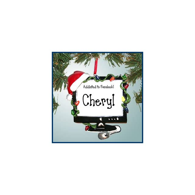 Personalized Christmas Ornaments   Christmas Computer   Personalized with Perfect Handwriting