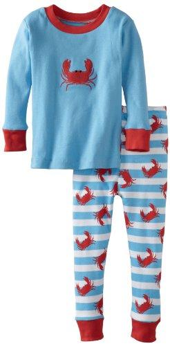 New Jammies Boys 2-7 Crabs N'Stripes Organic Pajamas, Blue, 6