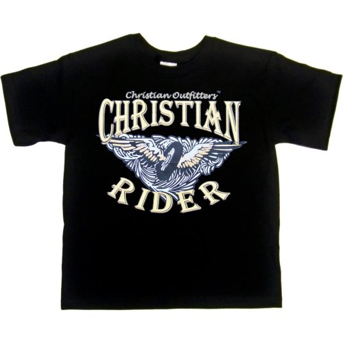 YOUTH T-SHIRT : WHITE - LARGE - Christian Outfitters - Christian Rider - Biker Inspirational
