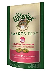 Feline Greenies Salmon SmartBites Skin & Fur 2.1 oz