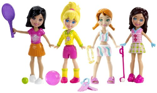 Polly Pocket and Friends Sporty Fun 4-Pack Amazon.com