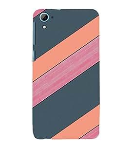 EPICCASE pink and grey Mobile Back Case Cover For HTC Desire 826 (Designer Case)