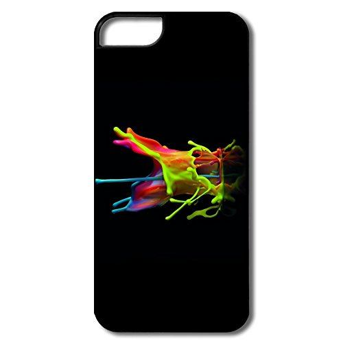 Colourful Splash Pc Unique Case For Iphone 5/5S