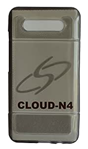Vcare Shoppe Semi Transparent Back case cover for Intex cloud N4 - Grey