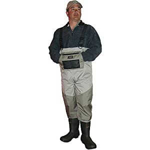 Caddis Mens 2 Tone Taupe Deluxe Breathable Boot Foot Wader by Caddis Wading Systems