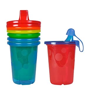 The First Years Take & Toss Spill-Proof Sippy Cups, 10 Ounce, 4 Pack