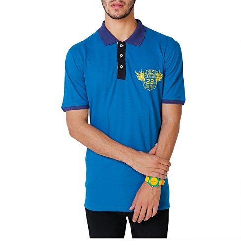 Yepme Men's Blue Cotton Polo Tees - YPMPOLO0309_L