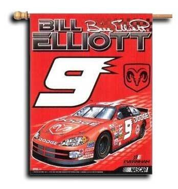 """Bill Elliott (Left) - 27"""" x 37"""" Nascar Banner"""