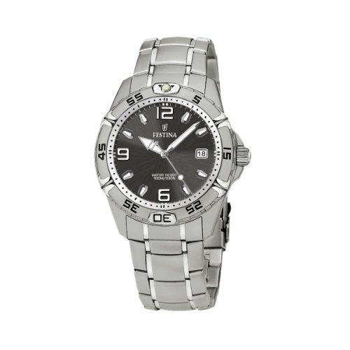 FESTINA Sport 16170/3 - Reloj de caballero de cuarzo, correa de acero inoxidable color plata