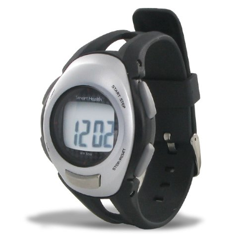 Smart Health Digital Pedometer Heart Rate Watch, Large