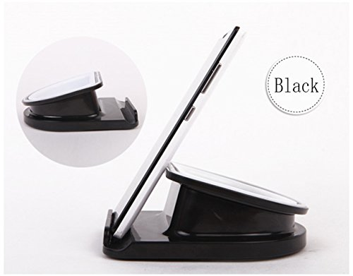 Desktop Tablet Stand - 360° Rotatable Anti-slip iPad Holder, Multi Viewing Angle Cell Phone Seat by AUXO-FUN (Black)