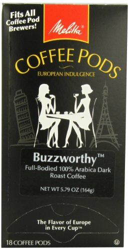 Melitta Coffee Pods, Buzzworthy, Dark Roast, 18-Count (Pack Of 4)