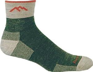 Darn Tough Merino Wool 1/4 Sock Cushion,Olive,Medium