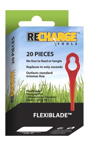 Recharge Tools GTB-20 Flexiblades For GTLI-10 Grass Trimmer - 20 Pack
