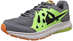 Nike Mens Dart 11 Msl Grey, Lime Green, Black and White Running Shoes -7 UK/India (41 EU)(8 US)