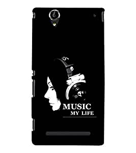 EPICCASE Music my Life Mobile Back Case Cover For Sony Xperia T2 (Designer Case)