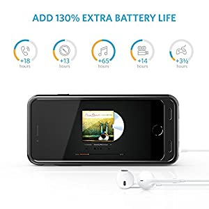 iPhone 6 6s Battery Case, Anker Premium Extended Battery Case for iPhone 6 6s (4.7 inch) with 3100mAh Capacity / 130% Extra Battery [Apple MFi Certified] (Black)