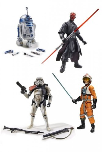 Star Wars Legends 6 Inch Action Figure Black Series 1 - Set of 4