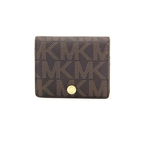 michael-kors-jet-set-travel-flap-card-holder-brown-luggage-logo-gold