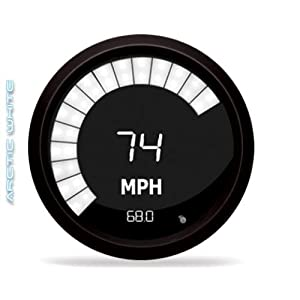 Intellitronix White LED Digital Speedometer