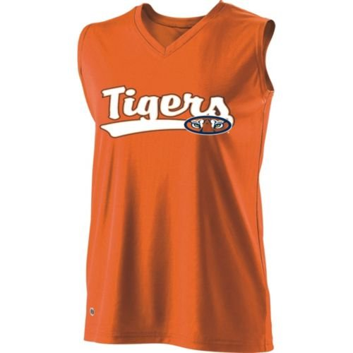 SLEEVELESS V-NECK AUBURN TIGERS Girls Curve Dry-Excel ADULT SMALL Licensed NCAA College Replica Jersey at Amazon.com