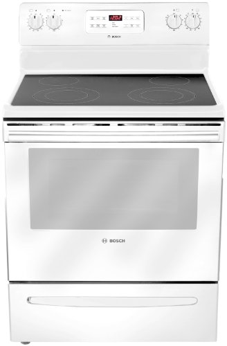 "Bosch Hes3023U 300 30"" White Electric Smoothtop Range"