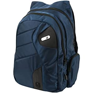 Powerbag Back Pack Designed by ful with Battery for Charging Smartphones, Tablets and eReaders - Blue (RFAP-0124F)