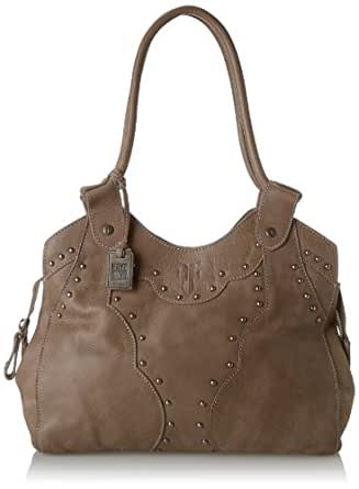 Amazon.com: FRYE Vintage Stud Shoulder Handbag,Grey,one