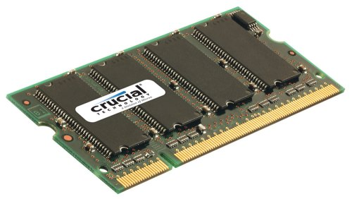 Crucial Technology CT12864AC800 1 GB 200-pin SODIMM DDR2 PC2-6400 CL=6 Unbuffered NON-ECC DDR2-800 1.8V 128Meg x 64 Memory