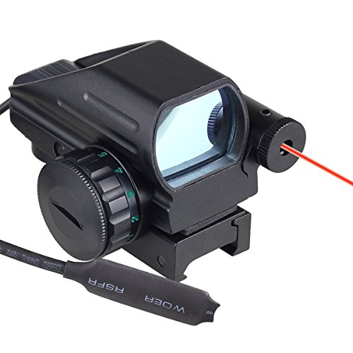 Lowest Prices! Ledsniper® Useful Tactical Holographic Reflex Red Green Dot Scope 4 Reticle & Red- L...