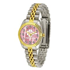 San Diego State Aztecs Ladies Gold Dress Watch With Crystals