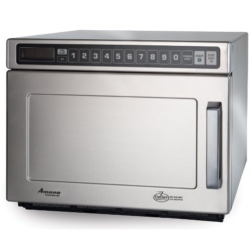 Amana Hdc18Sd2 1800 Watt Heavy Duty Commercial Microwave 208/240V All Stainless With Solid Door