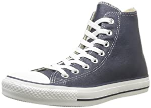 Converse Chuck Taylor All Star Core Leather Hi, Baskets mode mixte adulte - Bleu (Marine), 40 EU
